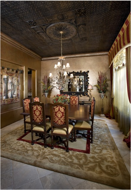 Traditional dining room design ideas simple home for Traditional dining room wall decor