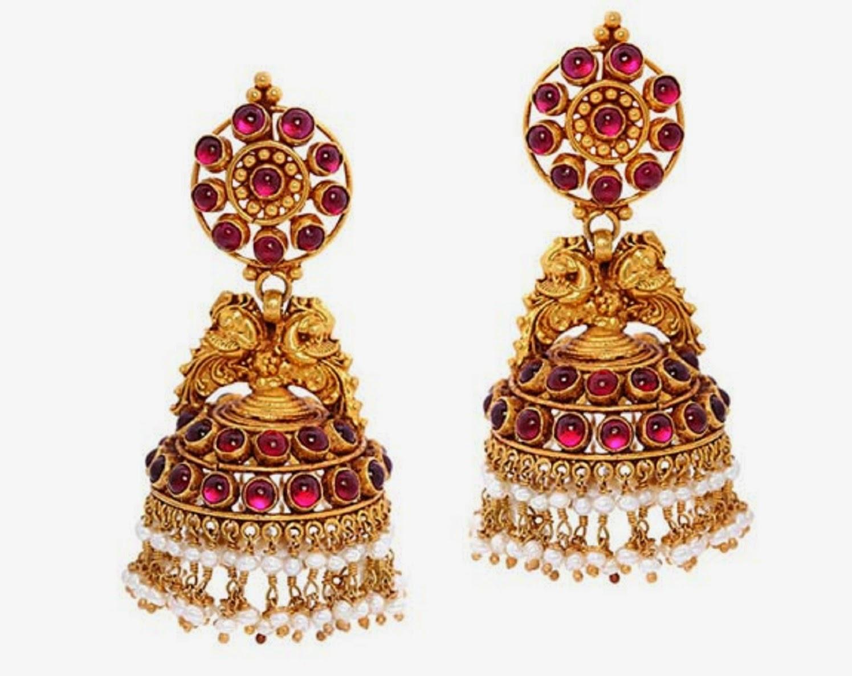FREE ALL HD WALLPAPERS DOWNLOAD: New Bridal Gold Jhumka Designs ...