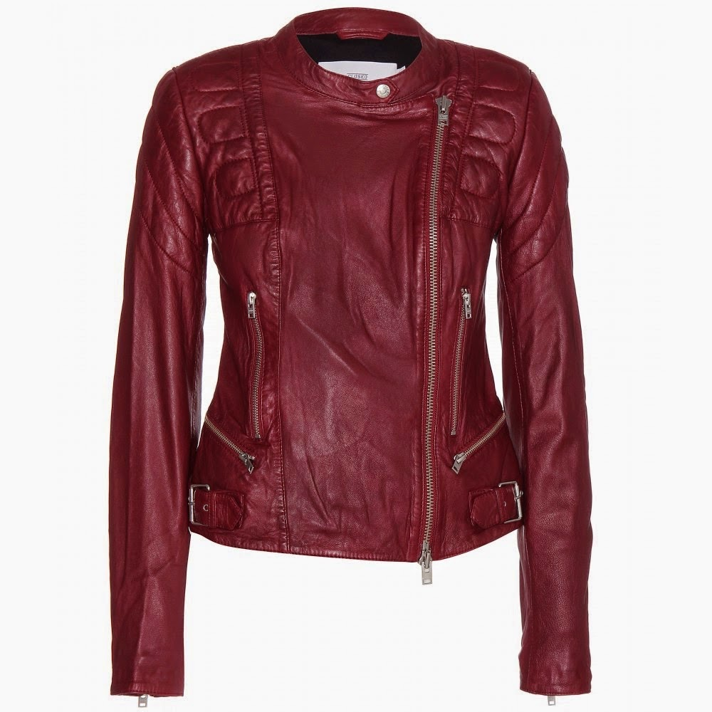 Leather jackets Burgundy