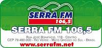 ouvir a Rádio Serra FM 106,5 Rio Verde MS