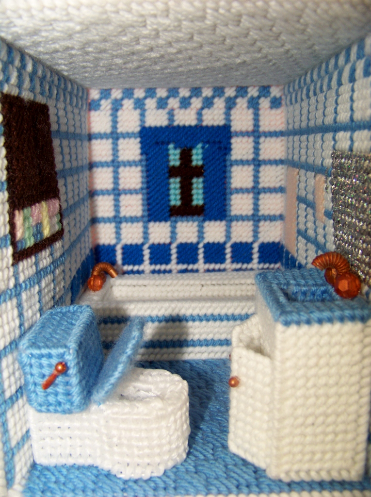 Crafty Kat Bathroom Furniture For Plastic Canvas Dollhouse