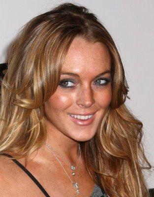 Lindsay Lohan Wavy Hairstyle