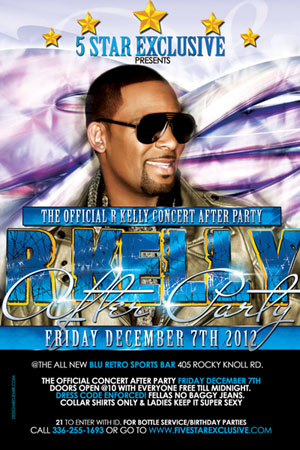R Kelly After Party Flyer Design