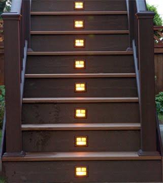 Deck design ideas deck step lighting made easy with outdoor solar lights - Solar deck lights for steps ...