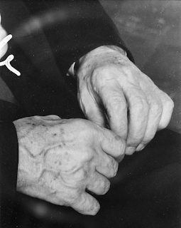 The hands of Ludwig Mies van der Rohe