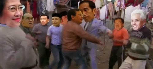 Heboh! Video Jokowi vs Prabowo di Youtube