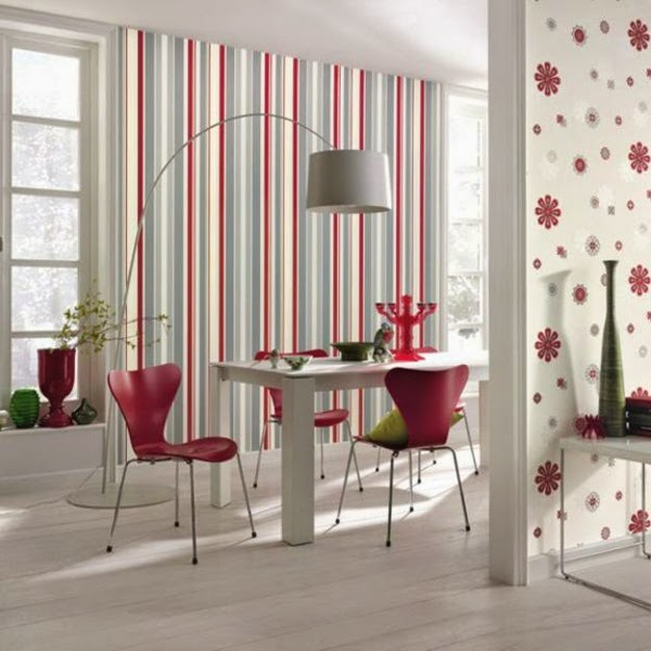 30 eye catching modern wallpaper designs for all rooms for Modern wallpaper designs for dining room