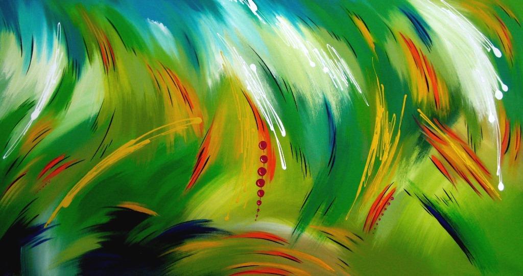 Im genes arte pinturas paisajes modernos coloridos for Cuadros coloridos modernos