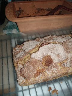 Cinnamon Coffee Bread Cooling on a Rack