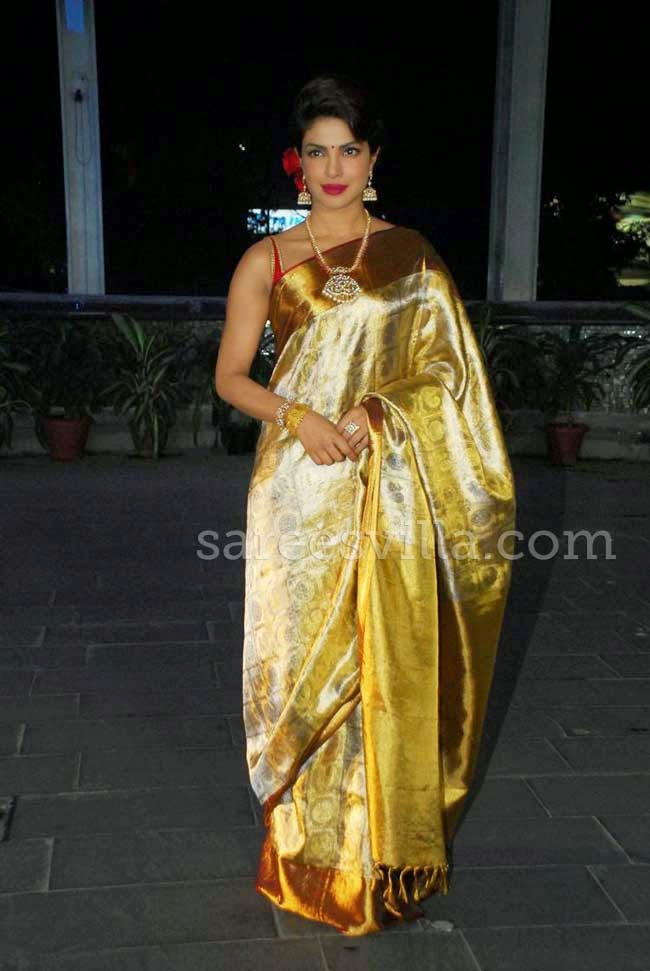 Priyanka Chopra In Kanchivaram Silk Saree