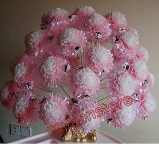 Bunga Pahar White Pink