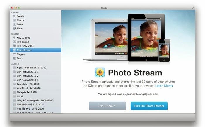 Bạn cần phải chạy Mac OS X Lion 10.7.2 hoặc mới hơn để có thể dùng iCloud.