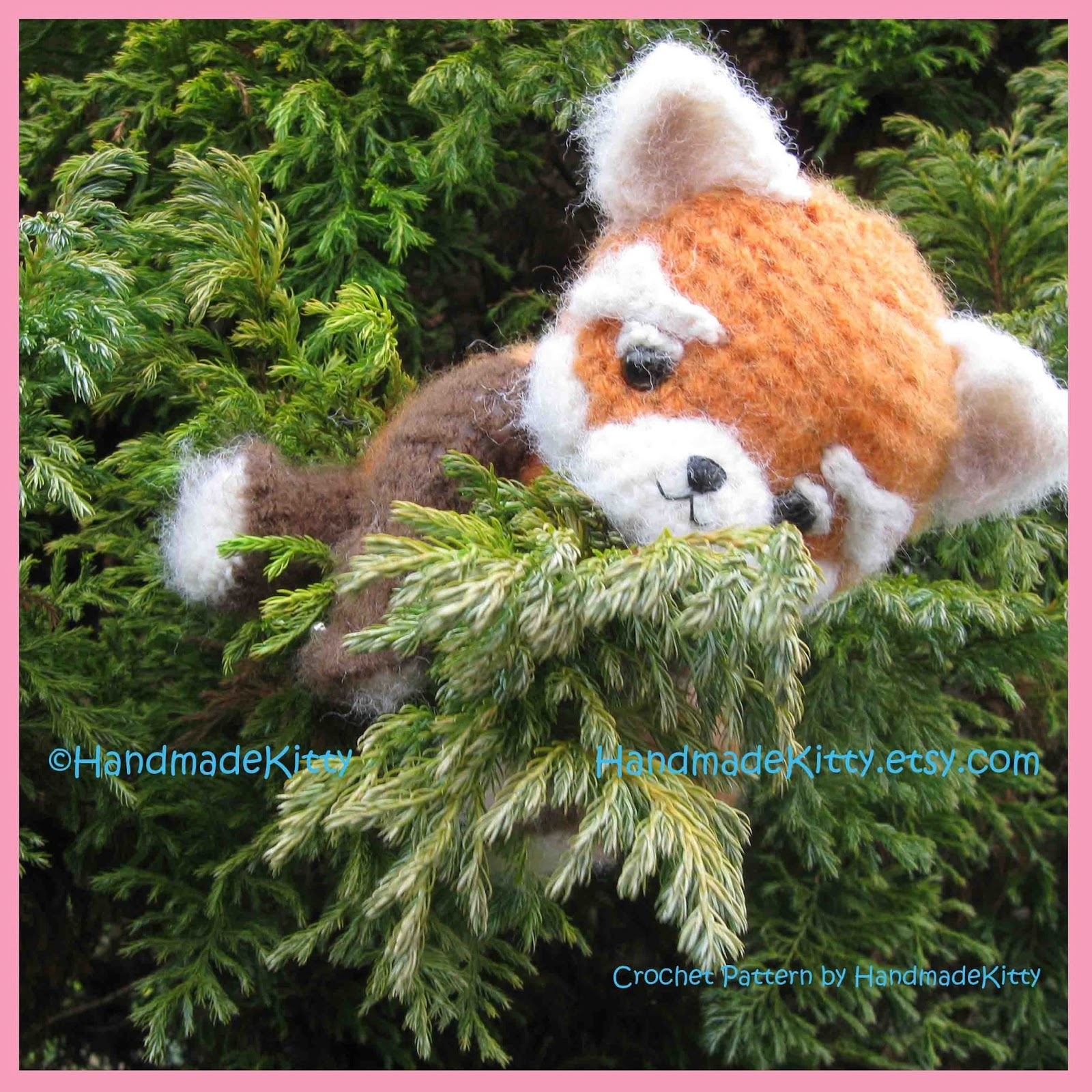 Amigurumi Free Patterns Pokemon : HandmadeKitty: Red Panda Amigurumi PDF Crochet Pattern by ...
