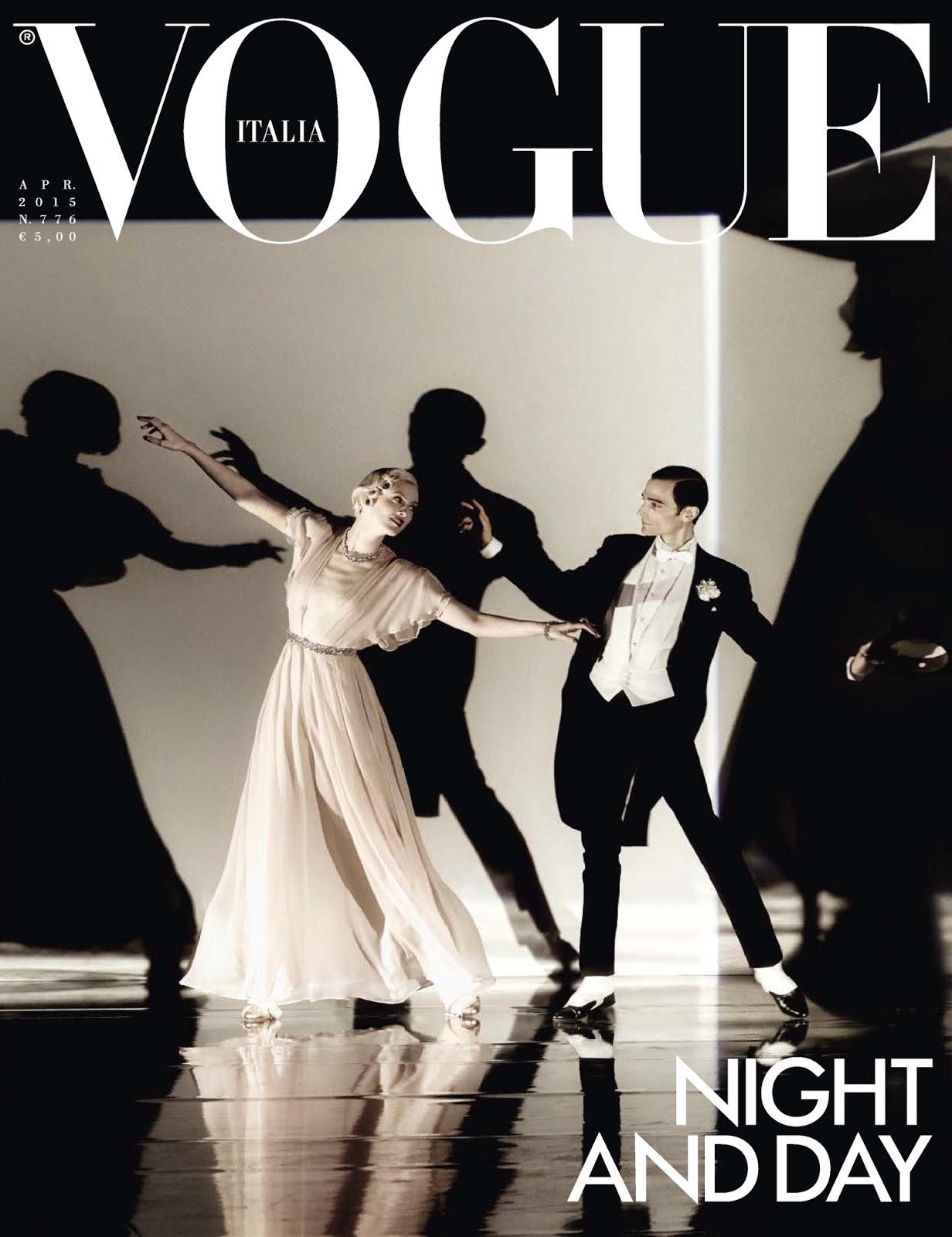 Model @ Karen Elson And Christopher Niquet By Steven Meisel For Vogue Italia April 2015