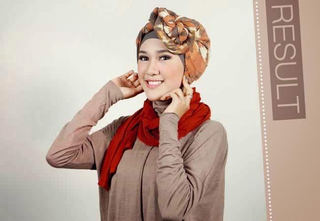 kreasi jilbab cantik segi empat