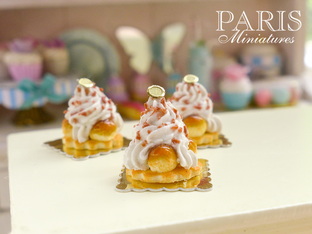 Miniature St Honoré pastries