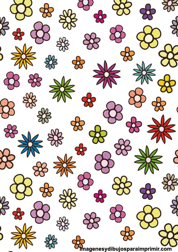 Flores para recortar imagenes y dibujos para imprimir - Dibujos en colores para imprimir ...