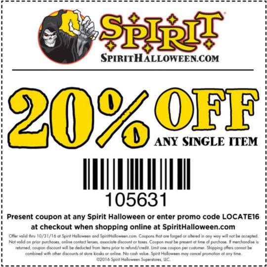 spirit halloween stores are opening all over the country go to their store locator page to find your closest location and grab a 20 off coupon