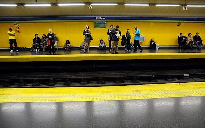 el metro el dia de la huelga