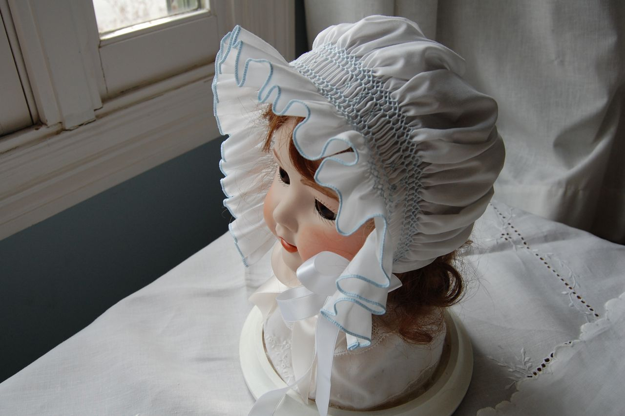 The Old Fashioned Baby Sewing Room Smocked Bonnet