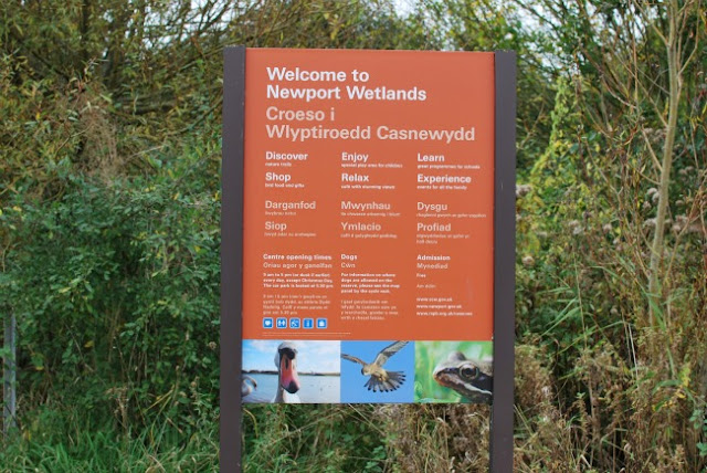 Newport wetlands sign
