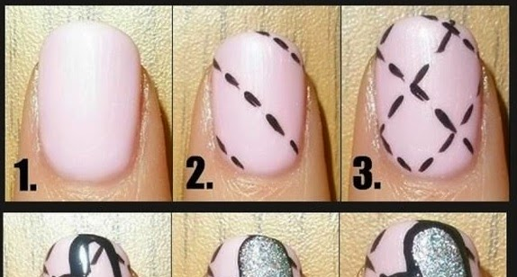 Get Quilted Heart Nails In Just Few Steps Beauty And Fashion Tutorials