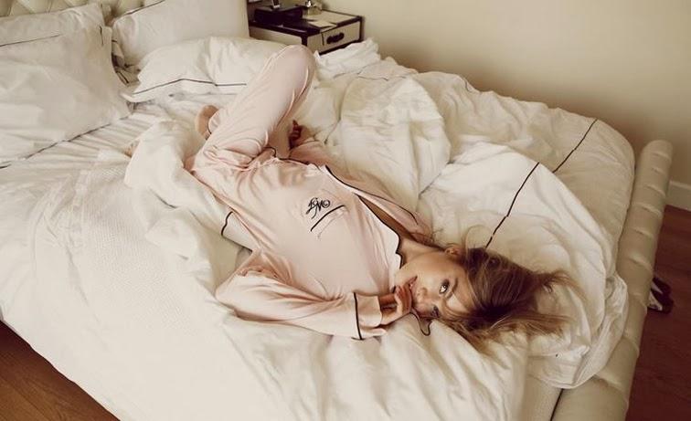 Wildfox pink je t'aime pj set pajamas