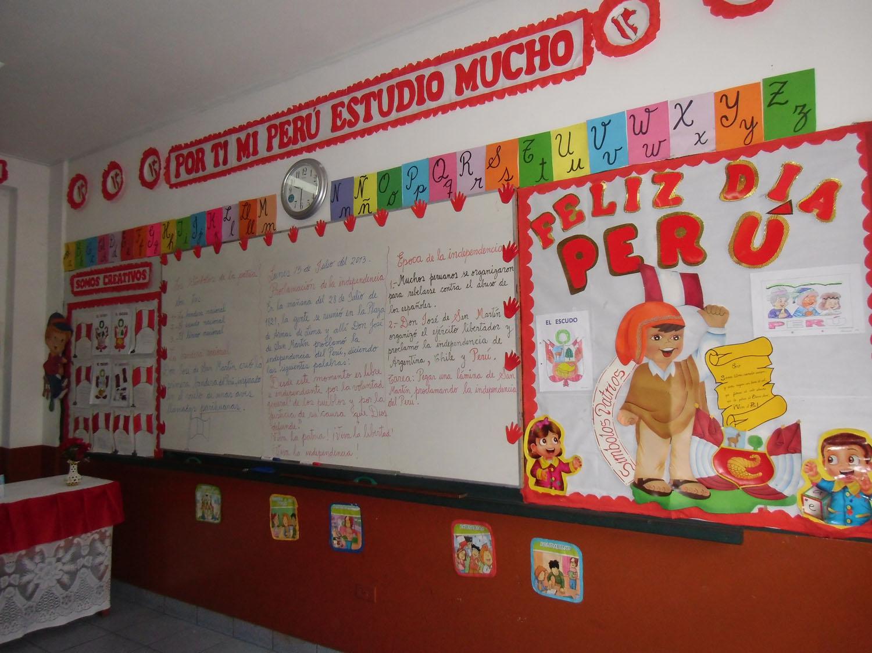 Semana patri tica concurso de ambientaci n de aulas for Decoracion aula primaria