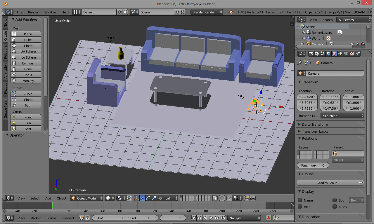 Tutorial Membuat Ruang Tamu Di Software Blender 3d