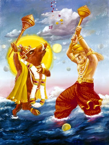 Lord Varah Dev killed Hiranyaksha