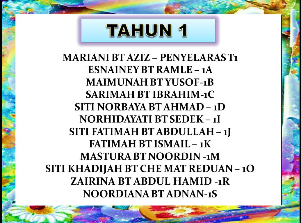 GURU KELAS TAHUN 1