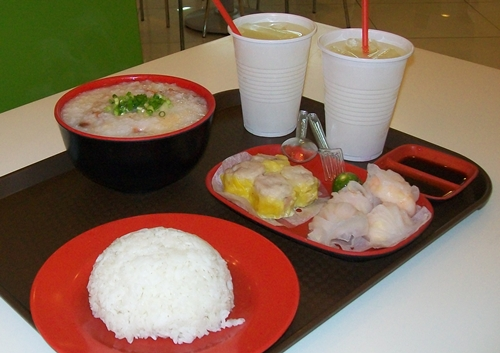 food ordered from Wanchai in Lucky Chinatown Mall
