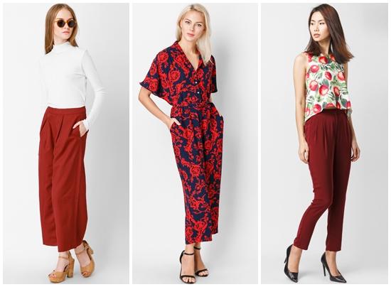 Tips phối quần áo nữ thời trang với sắc đỏ quyến rũ