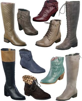 variedade de modelos de botas femininas