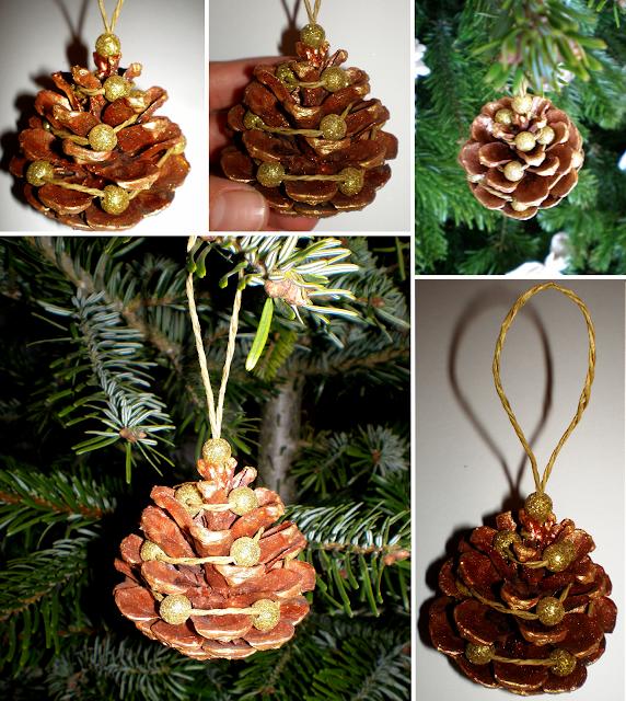 Ornamente din conuri