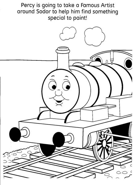 Thomas The Train Coloring Pages Team colors