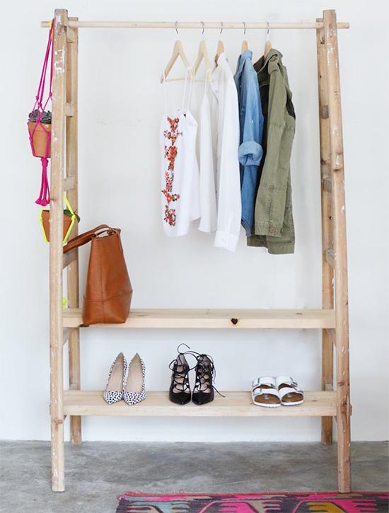 arara de roupas, escada de madeira, wool ladder, clothes hanger, guarda roupas, pendurar roupas