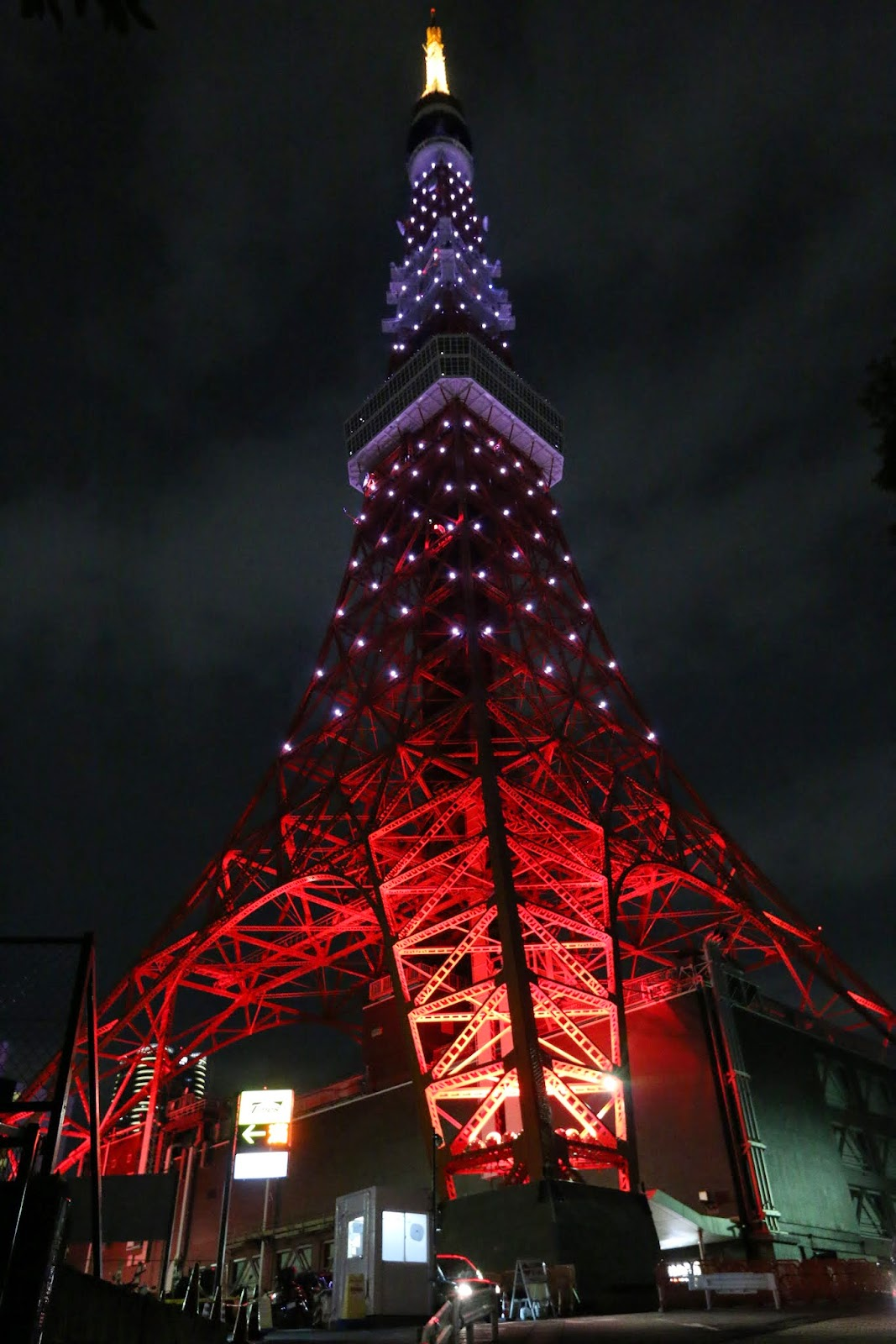 Close up with Tokyo Tower in Tokyo, Japan