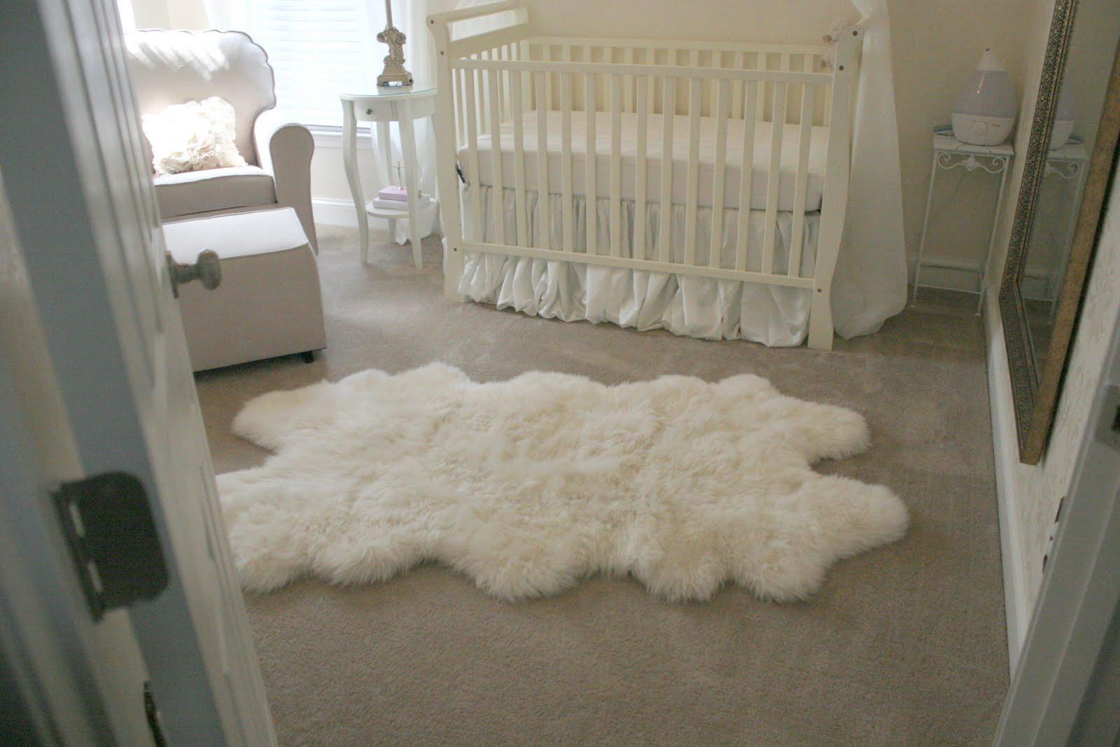 white rugs for nursery