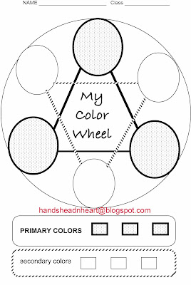 Hands Head N Heart In The Artroom Color Wheels With Kinders And