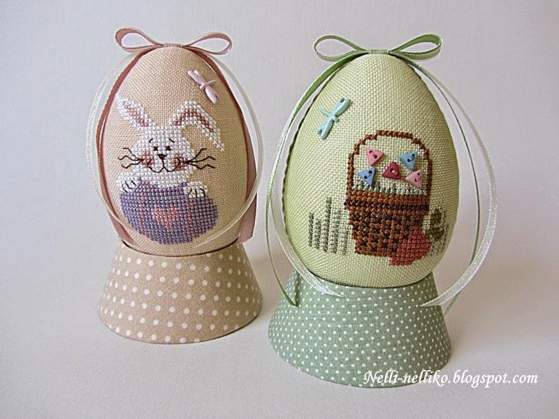 Красивые пасхальные яйца вышивка