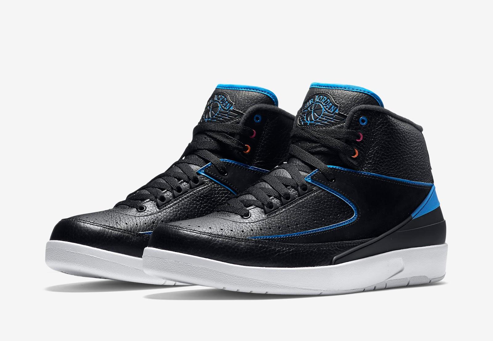 air jordan 2 black and blue