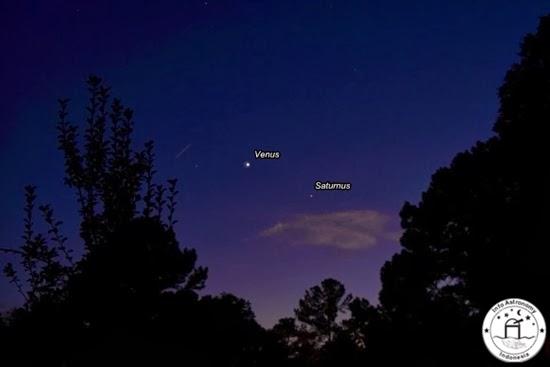 Foto-foto Venus dan Saturnus di Langit Indonesia