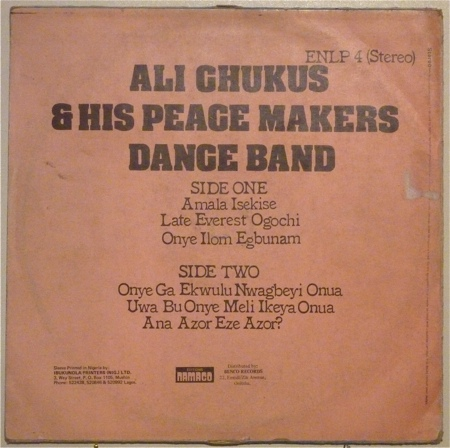 Ali Chukus His Peace Makers Dance Band Ali Chukus His Peace Makers Dance Band