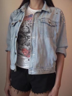 diy katana jeans z ćwiekami rock punk moda