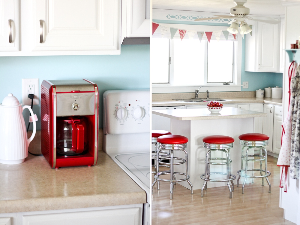 Every Kitchen Needs A Red Coffeepot, And Every Room Needs A Bunting. : )