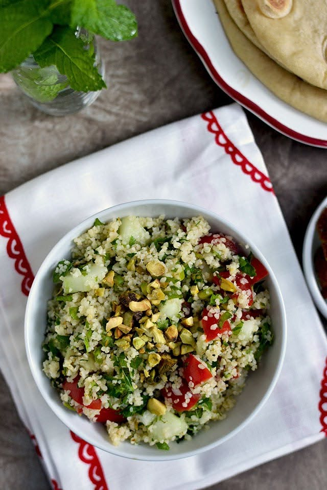 Lebanese Tabbouleh with Herbs & Pistachio