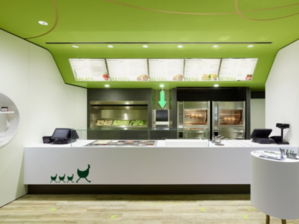 Contemporary interior designs restaurant interior design for Fast food decoration