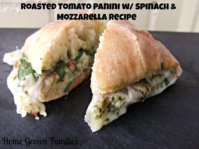 Roasted Tomatoes, Fresh Mozzarella & Basil Panini Recipes — Dishmaps