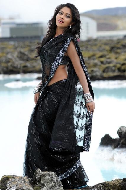 Amala Paul hot curves in saree